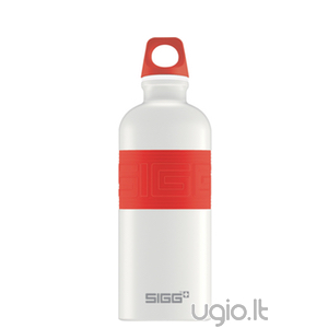 Gertuvė SIGG CYD Pure White Touch Red, 0,6 l